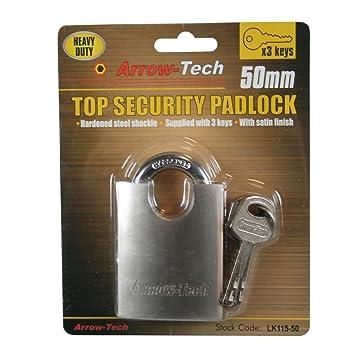 Candado Candado Seguridad Candado Cerradura Candado 50 mm: Amazon.es: Bricolaje y herramientas