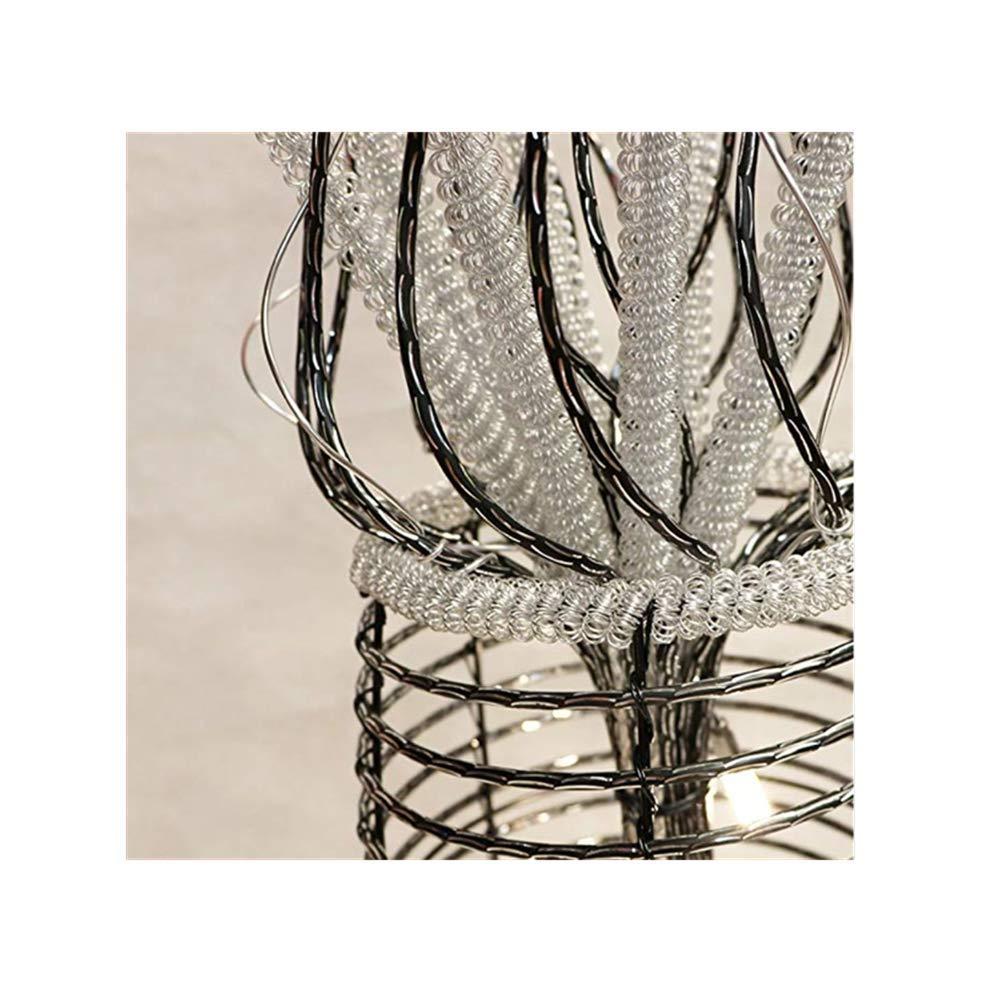 de Aluminio con Flor para Comedor l/ámpara de mesita de Noche L/ámpara de pie Pastoral sal/ón AMITD 59-Zoll-LED-Stehleuchte Tischlampe Dormitorio