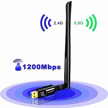 Amazon.com: Adaptador WiFi USB 600 Mbps usbnovel doble banda ...