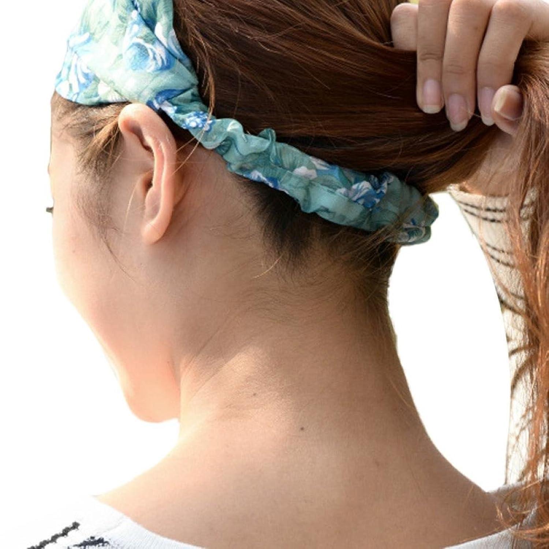 "Deamyth Women Girls Rose Flower Print Cloth Hair Band Headband 9.06"""