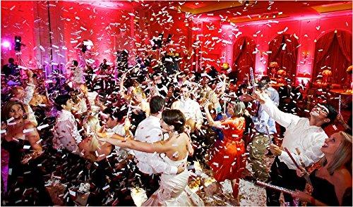 Confetti Sticks Flutter fetti White Tissue Confetti Paper Confetti Flickers 14inch - 50pieces