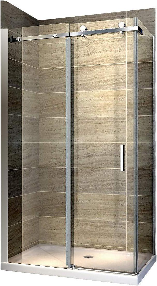 Cabina de ducha Nano 8 mm Cristal ex802 Puerta corrediza – 90 x 100 x 195 cm: Amazon.es: Hogar