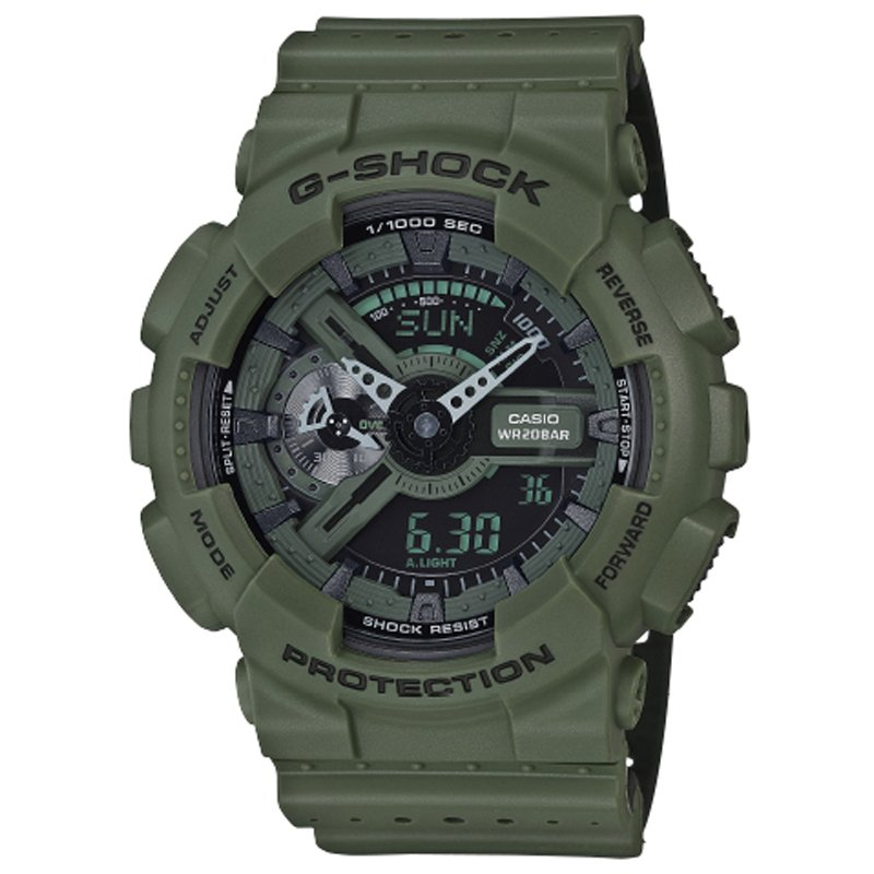G-Shock GA-110LP - Military Perf Band - Green / One Size by Casio