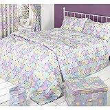 Mucky Fingers Childrens Heart Pattern Duvet Cover Bedding Set (Full Bed) (Hearts)
