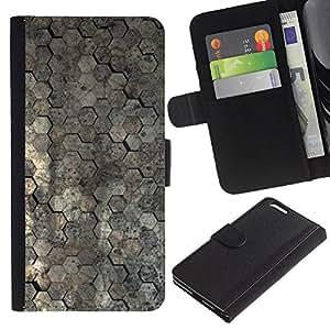 KingStore / Leather Etui en cuir / Apple Iphone 6 PLUS 5.5 / Modelo del papel pintado Arquitectura Superficie