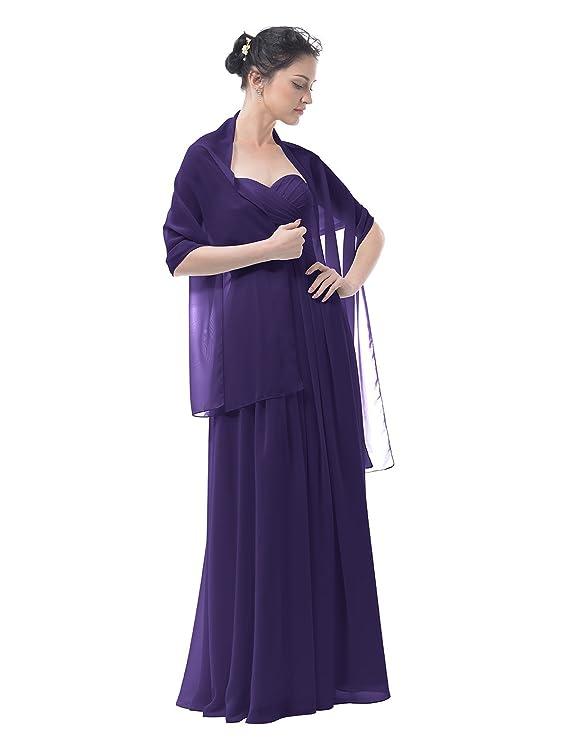 Topwedding Damen Stola Violett aubergine Medium: Amazon.de: Bekleidung