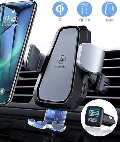Amazon.com: VANMASS - Cargador de coche inalámbrico para ...