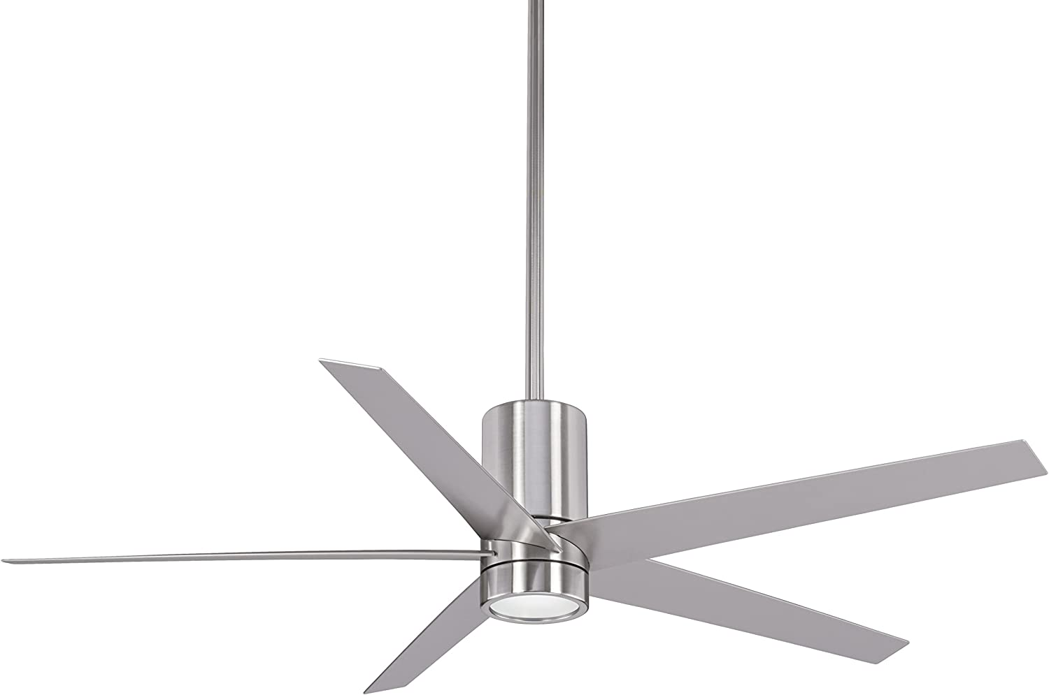 Minka Lavery F828-BN Protruding Mount, 5 Brushed Nickel Blades Ceiling fan  with 35 watts light, Brushed Nickel
