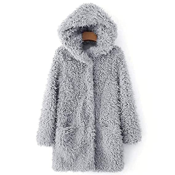 Amazon.com: Women Thicken Warm Winter Artificial Soft Wool Coat Hood Parka Overcoat Fashion Long Jacket Outwear: Arts, Crafts & Sewing