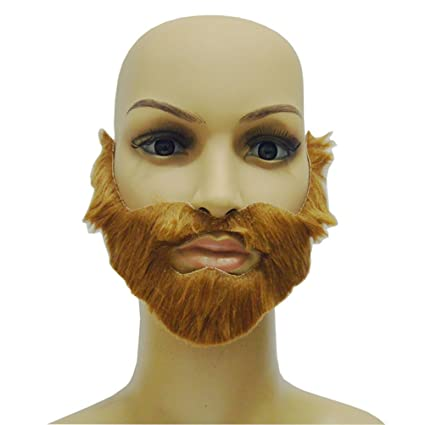 7171eb1c57c Amazon.com  OULII Party Fake Mustaches Funny Beards Whisker Festival Supplies  Halloween Costume (Brown)  Toys   Games
