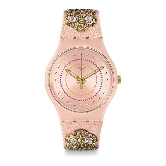 Swatch Reloj Analogico para Unisex de Cuarzo con Correa en Tela SUOP108: Amazon.es: Relojes