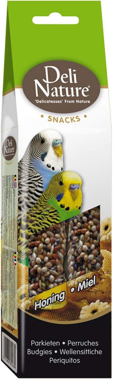 Barritas de miel DELINATURE para periquitos, 60 g, pájaros