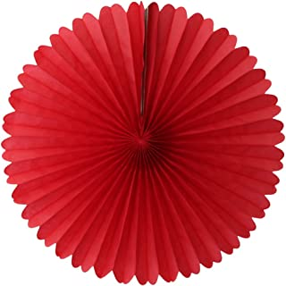 product image for 3-pack 13 Inch Tissue Paper Party Fans (Red)