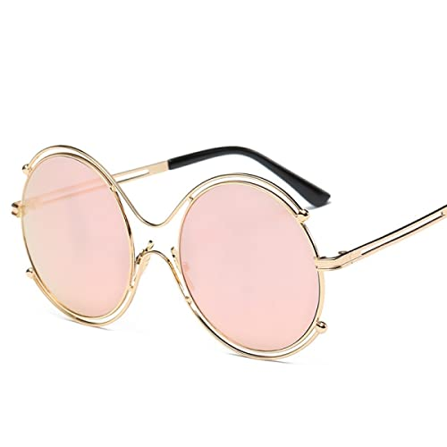 Gafas De Sol Redondas Metal De La Manera FAONL Señoras