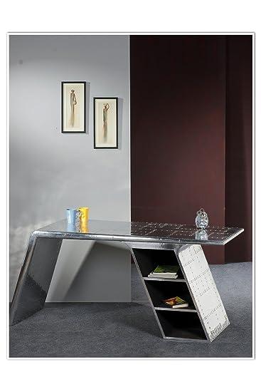 Schreibtisch Aluminium 150cm Amazon De Kuche Haushalt