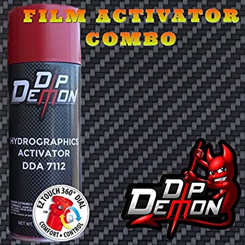 Combo Kit Carbon Fiber Weave Hydrographic Water Transfer Film Activator Combo Kit Hydro Dipping Dip - Demon Carbon Fiber