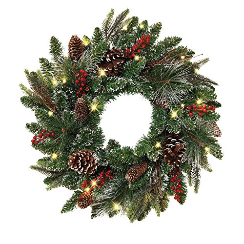 led wreath outdoor - 5