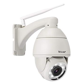 Caméra IP Surveillance, SRICAM SP008 Caméra de Sécurité Sans Fil Caméra Dôme  WiFi Etanche IP66 6bd4baaf7a33