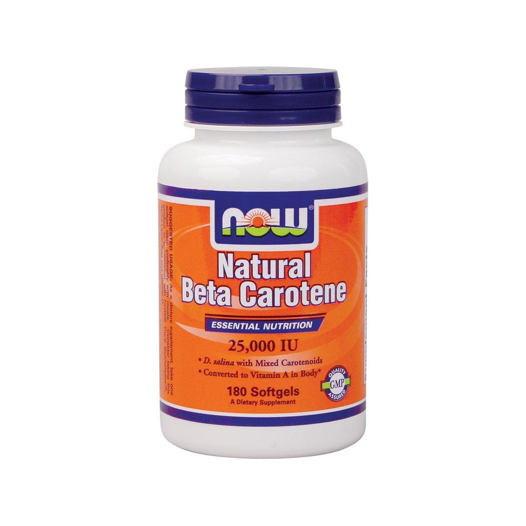 Now Foods Beta Carotene (Natural) - 180 Softgels 5 Pack