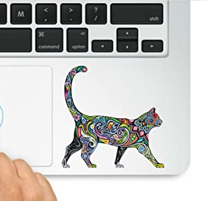 Decal & Sticker Pros Multi-Colored Abstract Diversity Cat Trackpad Decal Laptop Compatible with All Apple MacBook Retina Air Trackpad Keypad Sticker