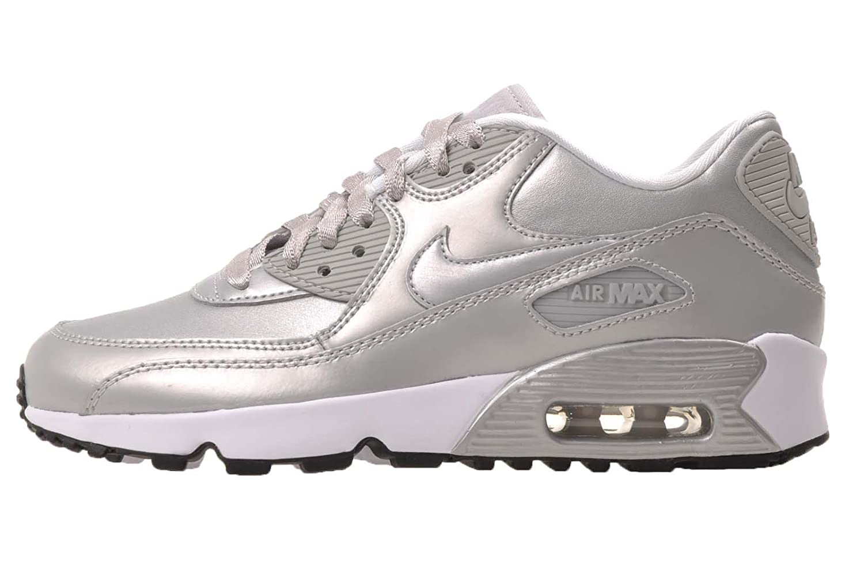 promo code 4ddb3 5f2e0 Nike Womens Air Max 90 Se Leather Metallic, Grey, 6 UK (40 ...