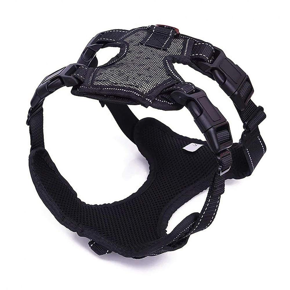 Black M black M Collar Pets Vest,Dog Harness,Suitable for Cats and Dogs, Portable and Comfortable Outdoor for Medium to Large Dog Training Walking,Black-M