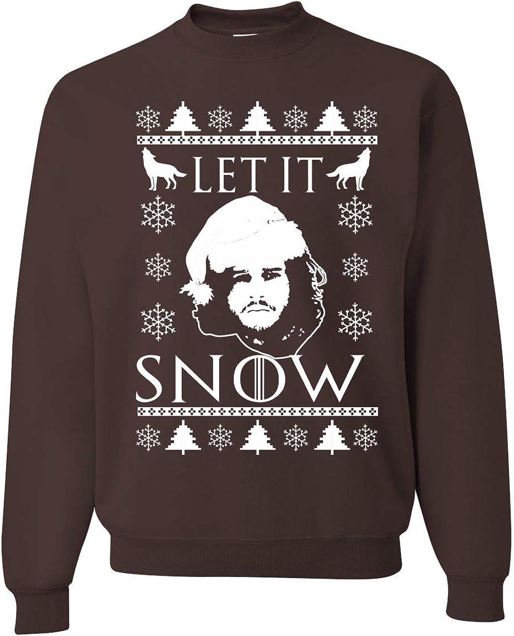 Winter Is Coming Ugly Christmas Sweater  Funny Got Black Crewneck Sweatshirt