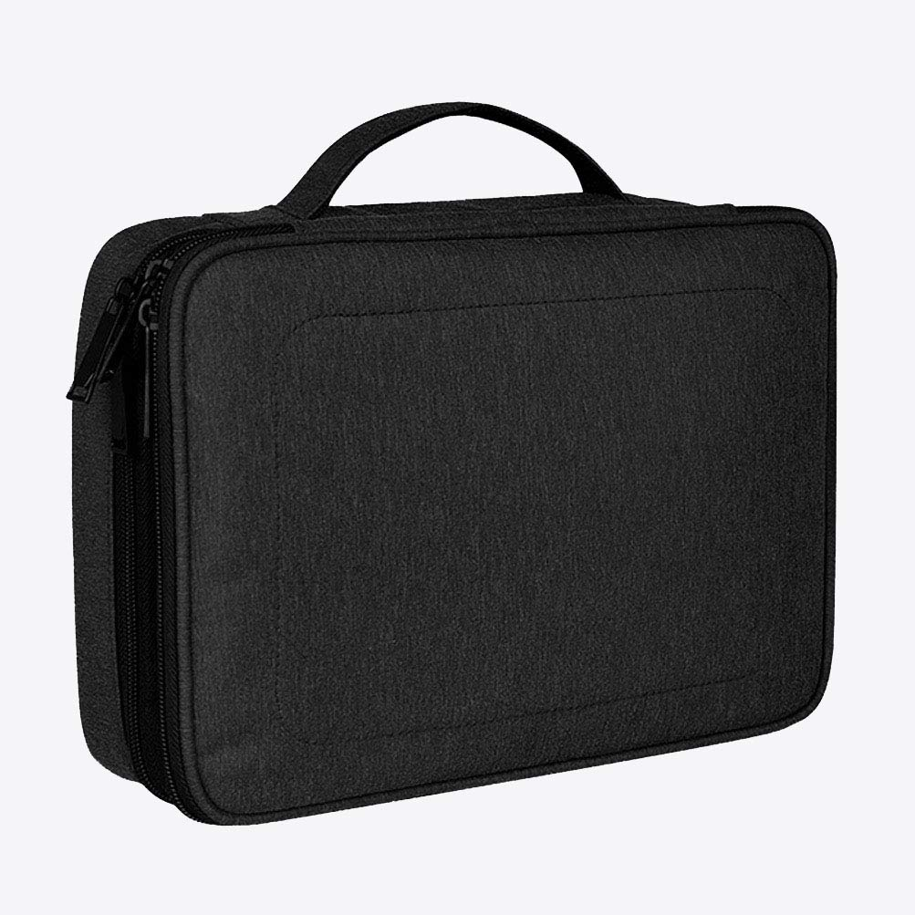 VENUSPANG Electronic Organizer Travel Universal Cable Organizer Electronics Accessories Cases for Cable, Charger, Phone, USB, SD Card, Black
