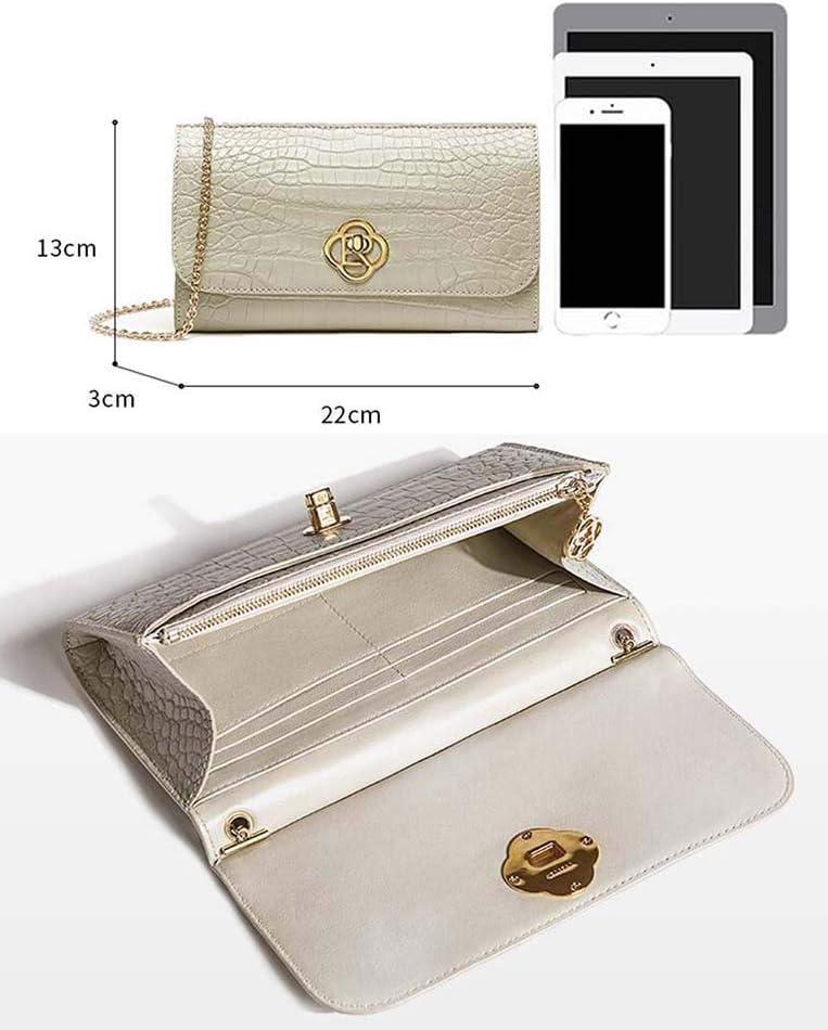 EEKUY Borsello delle Donne, Coccodrillo Borse Catena della Spalla Cinturino Alligatore Messenger Bag Frizione di Modo Borsa di Sera del Partito di 8.7 × 5.1 × 1.2 Pollici B