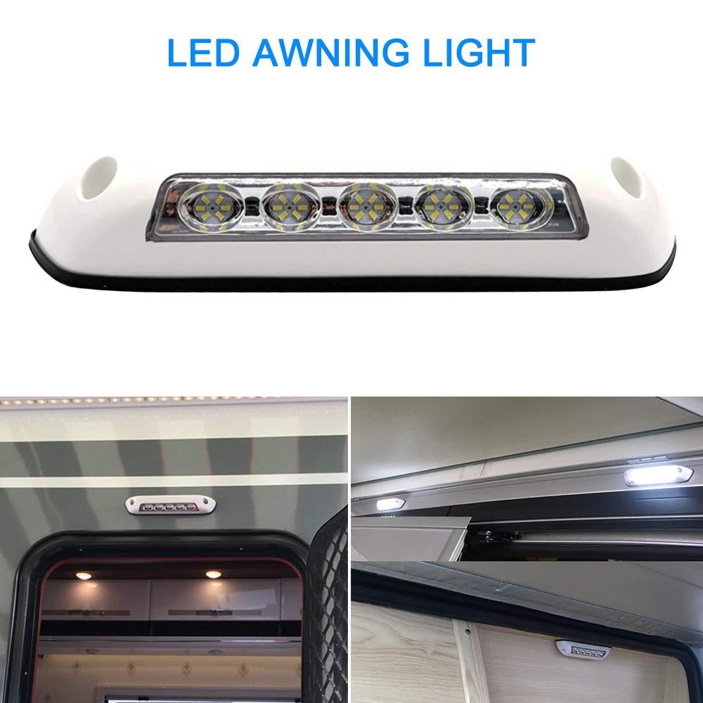 H HILABEE Waterproof 20 LED Motorhome Camper RV Marine Boat Caravan Awning Porch Lights 12V