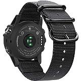 Fintie Band Compatible with Garmin Fenix 5X Plus/Fenix 3 HR Watch, Premium Woven Nylon Bands Adjustable Replacement…