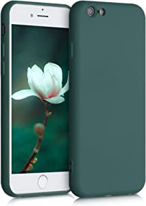 kwmobile Case Compatible with Apple iPhone 6 / 6S - Soft Rubberized TPU Slim Protective Cover for Phone - Moss Green