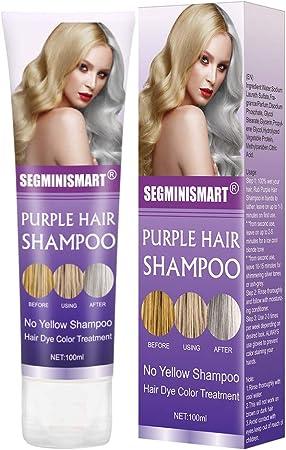 No Yellow Champu,Champu Azul,Champú Purpura,Champú No Yellow Antiamarillo,Purple Shampoo,No Yellow Shampoo,humectante capilar con tratamiento de color ...