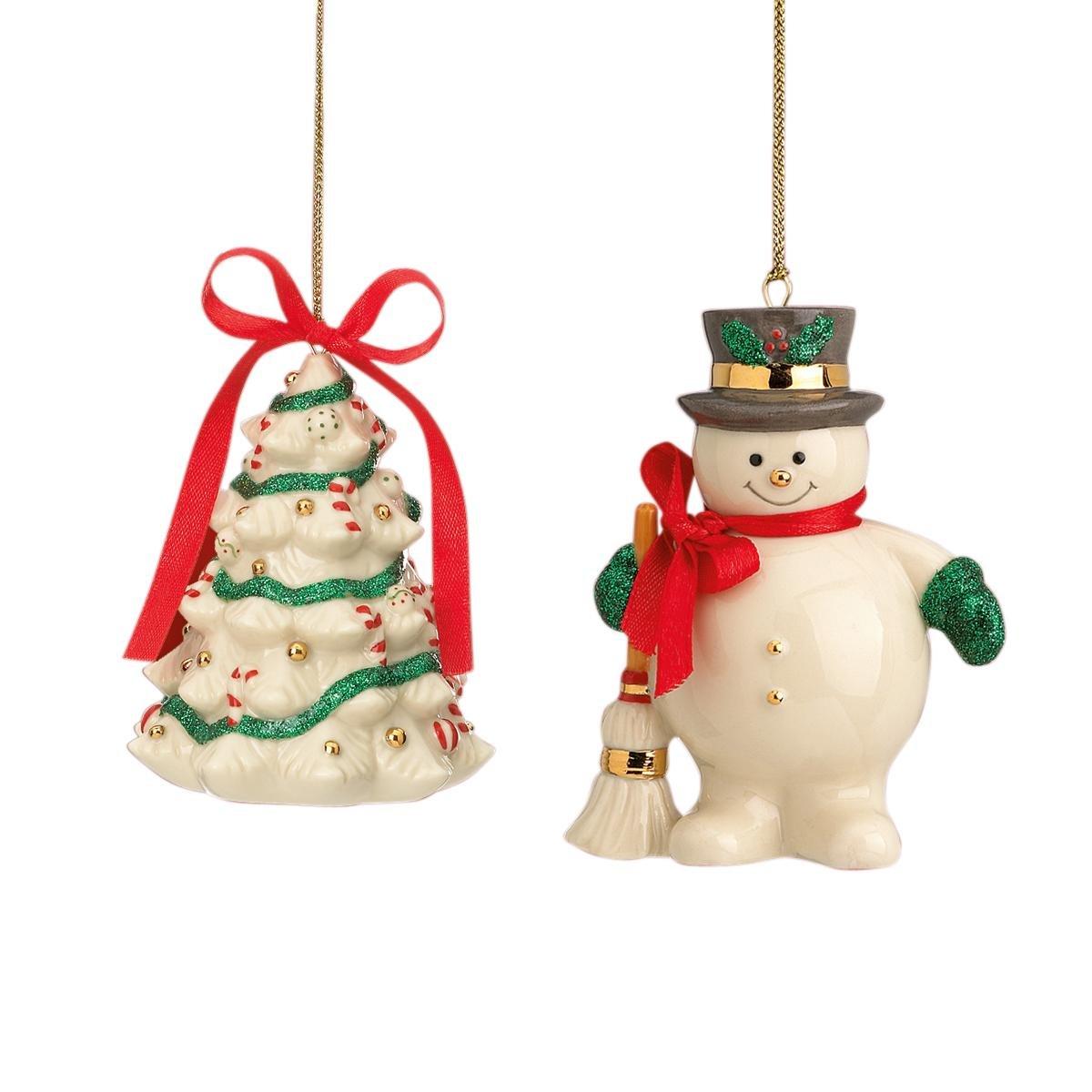 Lenox Christmas Ornaments.Lenox Holiday Ribbon S 2 Christmas Ornaments