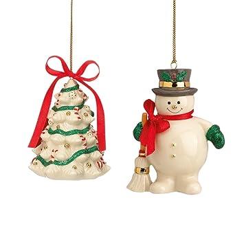 Amazon.com: Lenox Holiday Ribbon S/2, Christmas Ornaments: Home ...