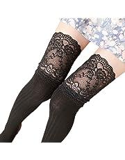 Calcetines térmicos Mujer Invierno 🌲 Mujer niña Invierno Calcetines Sobre Rodilla Calentador de piernas Calcetines Legging