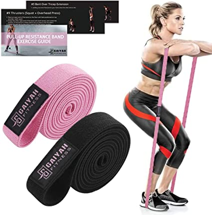 Fabric Long Resistance Bands Set Pull Up Workout Body Bands Yoga Fitness Bands