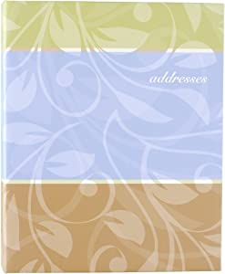 AT-A-GLANCE Address Book, 3 Ring, 7 x 9 Inches, Assorted Cover Designs - Color May Vary (TL76110 )