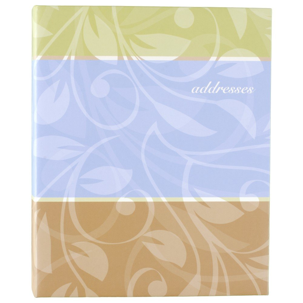 AT-A-GLANCE Address Book, 3 Ring, 7 x 9 Inches, Assorted Cover Designs - Color May Vary (TL76110)