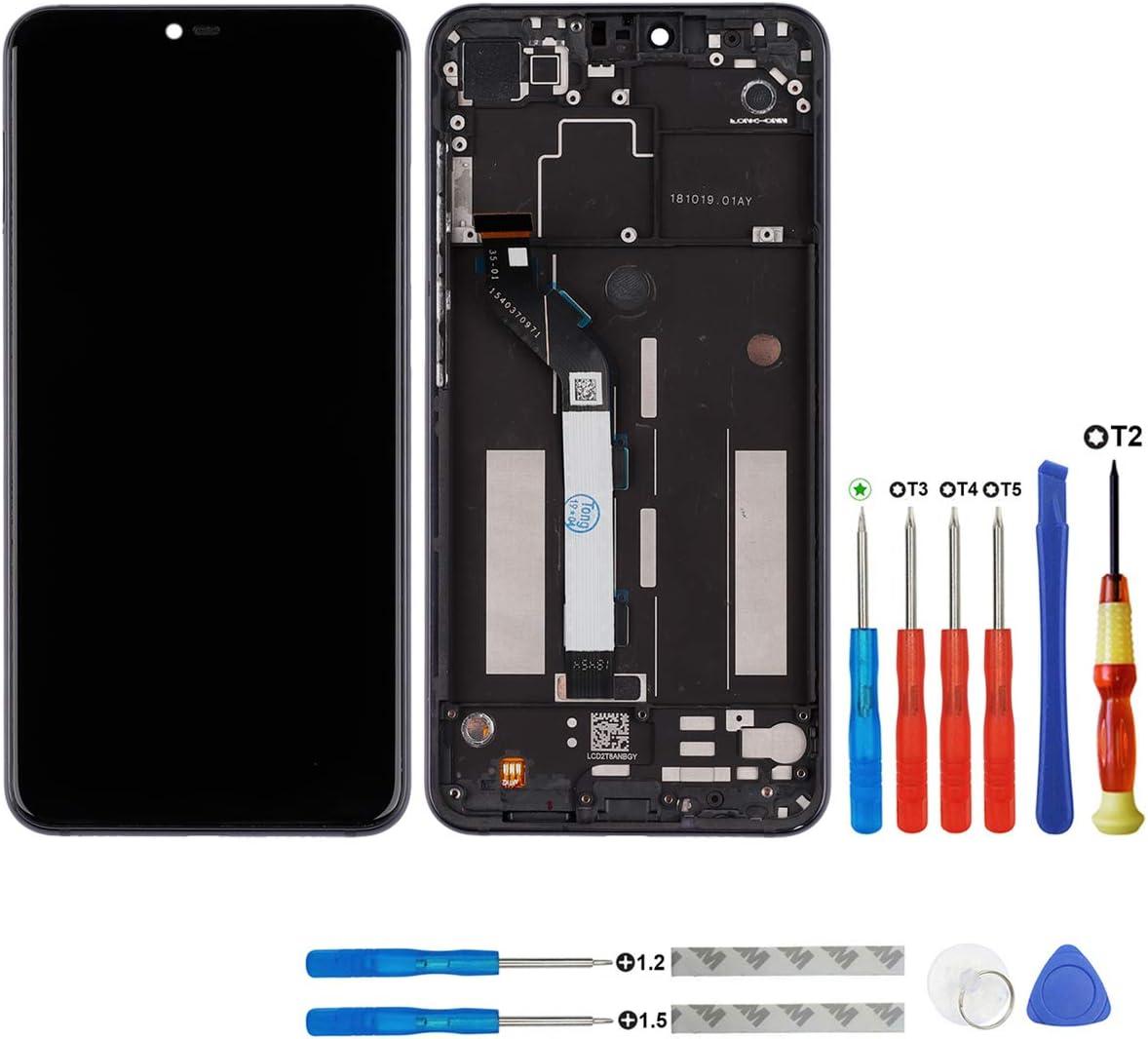 Swark - Pantalla LCD compatible con Xiaomi Mi 8 Lite, marco de pantalla táctil + herramientas, color negro