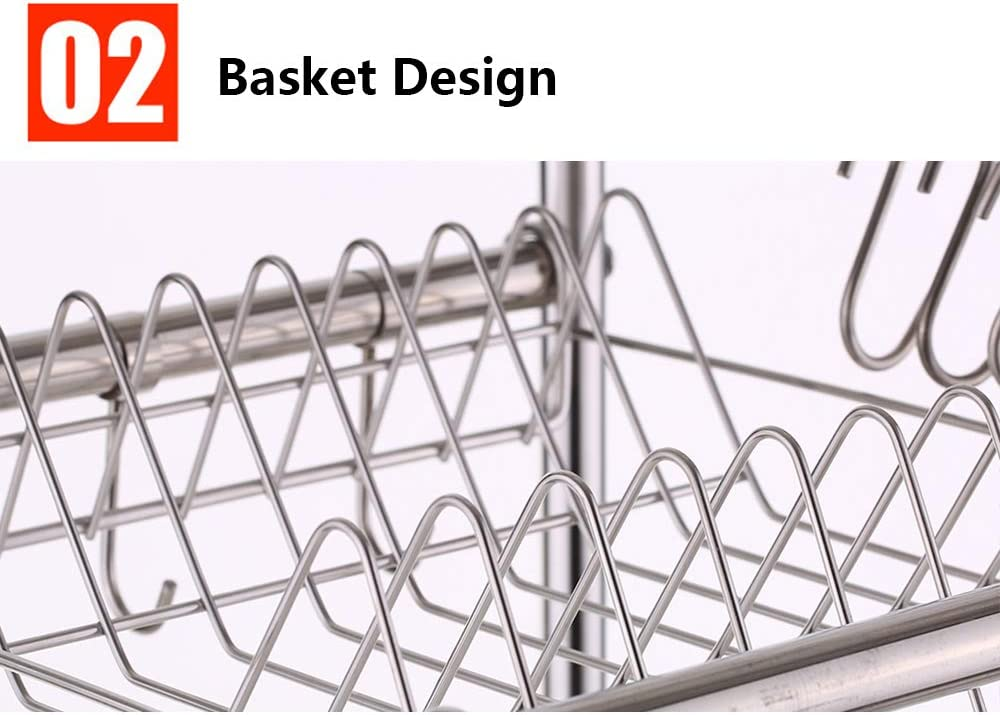 Galapara Collapsible Dish Drying Rack with Drain Board Multipurpose Foldable Kitchenware Tools Dish Bowls Drying Drainer Plastic Storage Rack Tableware Drain Organizer Holder for Drying Dish