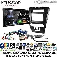 Volunteer Audio Kenwood Excelon DDX6904S Double Din Radio Install Kit with Satellite Bluetooth & HD Radio Fits 2010-2012 Fusion (Black)