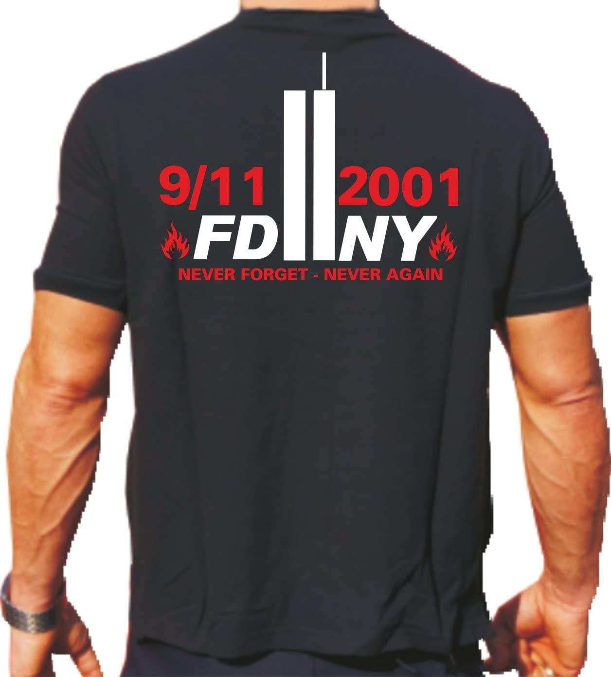 Camiseta de 2001 – 2011 Never Forget Never Again – Bomberos York: Amazon.es: Deportes y aire libre