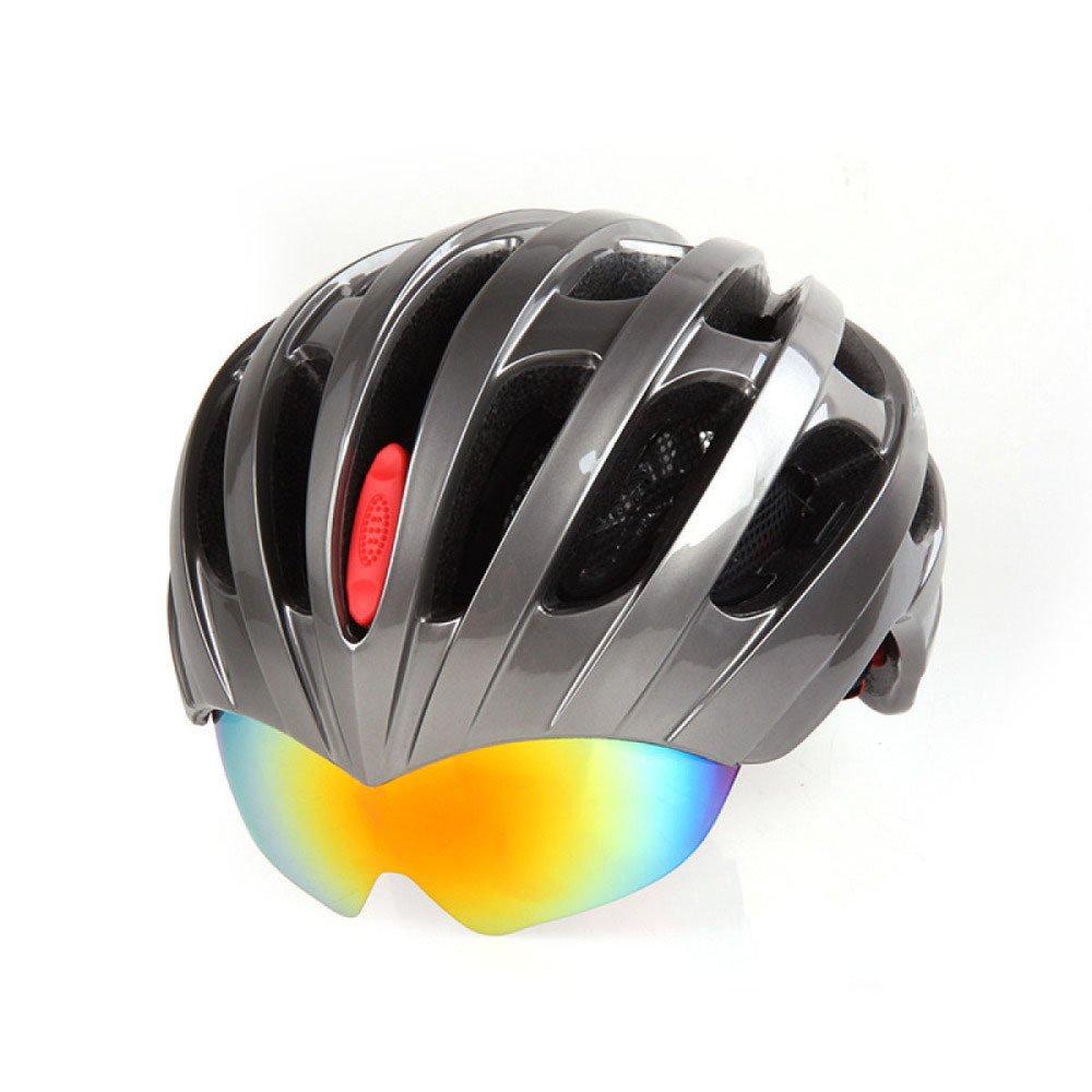 RAQ Helm Outdoor Fahrradhelm EPS Leichte Komfortable Modische Belüftete Sicherheit Vier Jahreszeiten Helm mit Brille Neutral Geeignet für Kopfumfang (50-58CM)