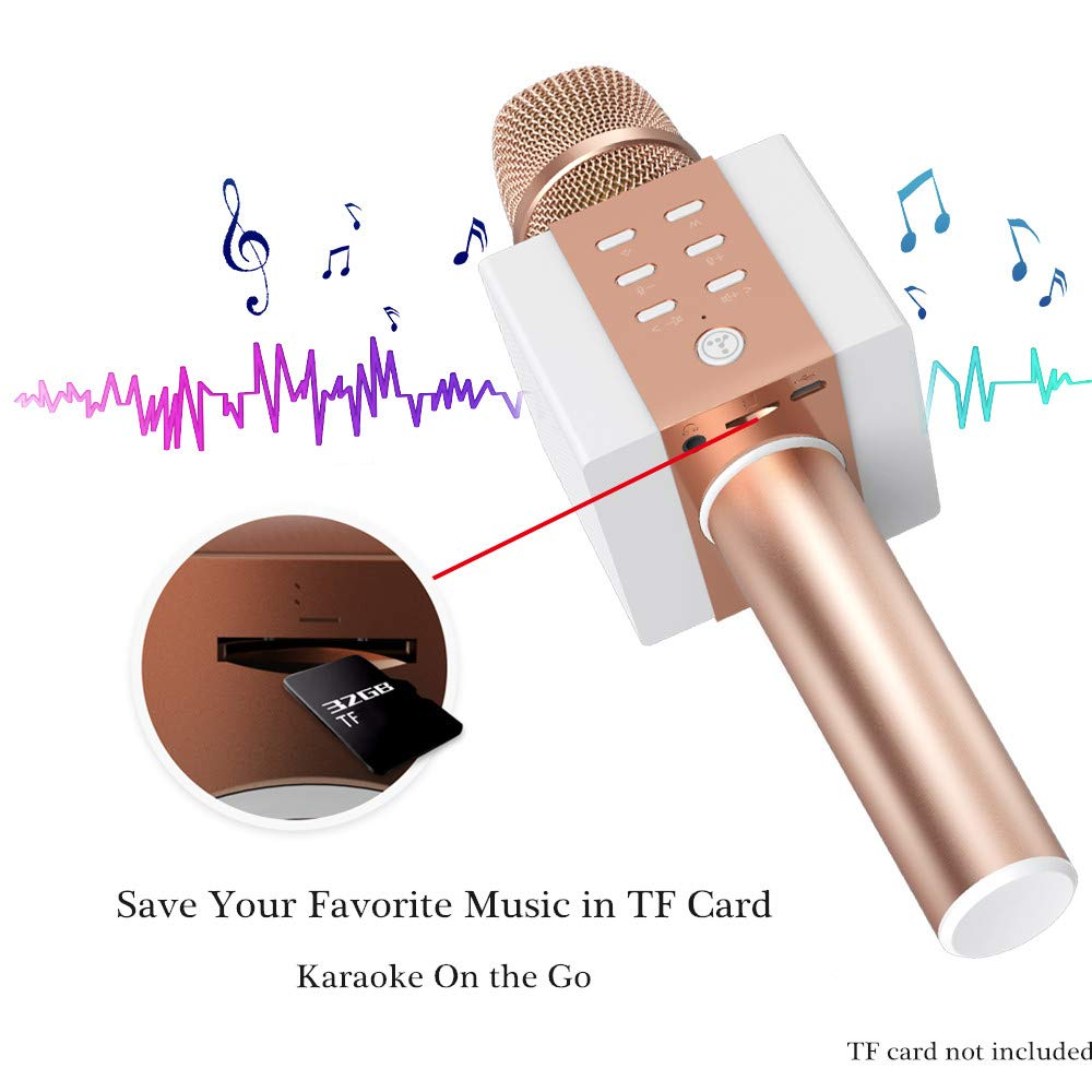 TOSING Wireless Karaoke Microphone, Louder Surrounding Stereo, Bluetooth Handheld Portable Karaoke Machine, Top Birthday Easter Gifts Ideas for Teens and Adults, Compatible with iPhone Android Phones by TOSING (Image #5)