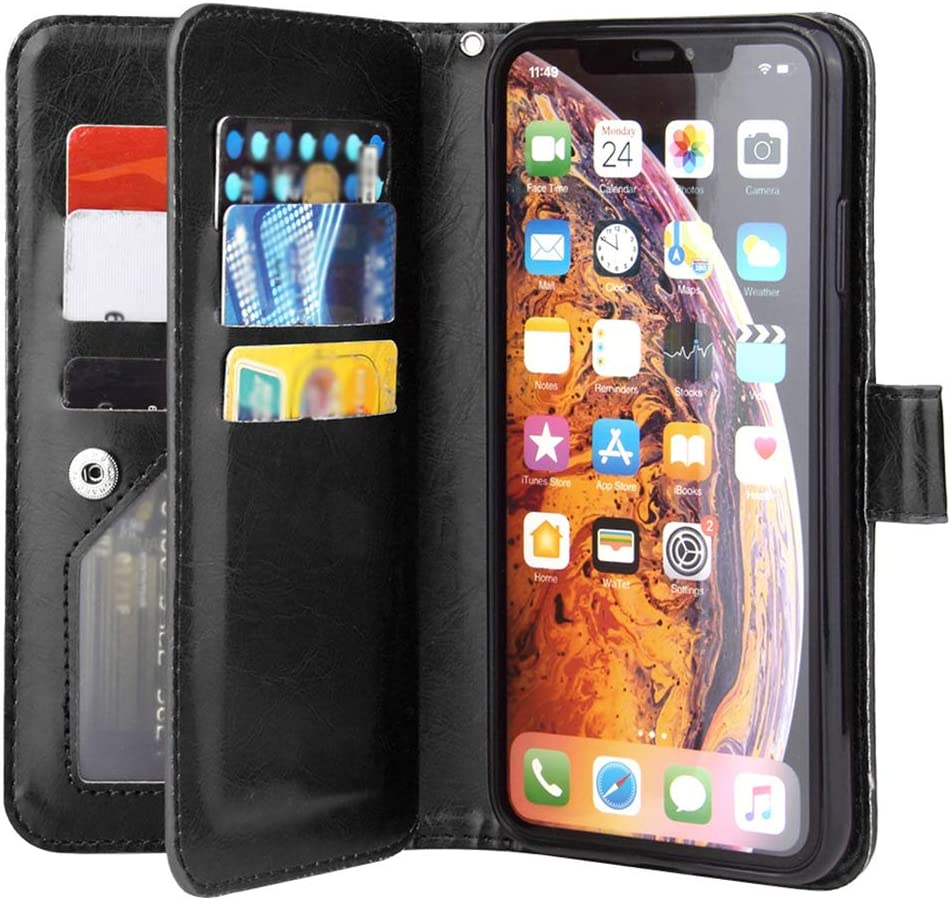TPU Transparent Case with Strap for iPhone XS Max 6.5 Inch Silicone Bumper Case Olliwon Mobile Phone Chain Compatible with iPhone XS Max Rainbow