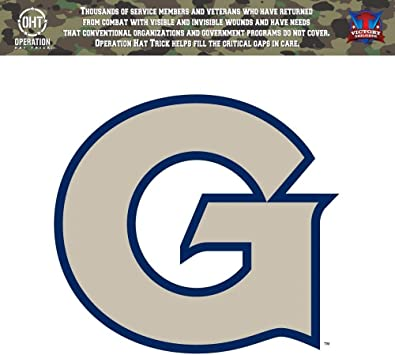 Victory Tailgate Georgetown Hoyas Operation Hat Trick OHT Die Cut Vinyl Decal