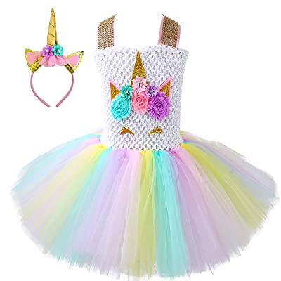 Unicorn Tutu Dress, Unicorn Birthday Outfit, Unicorn Headband,  Birthday Dress: Clothing