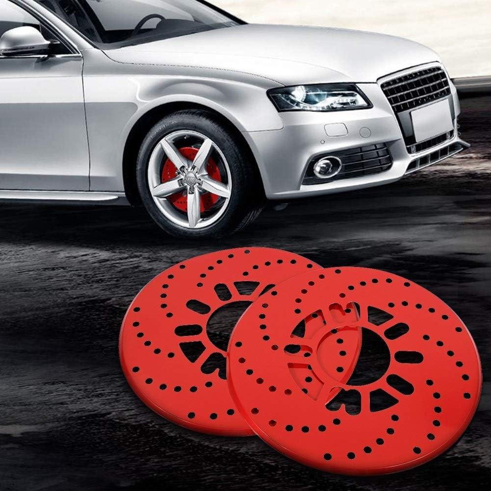 Disc Brake Quiet 1 Set Auto Aluminium Disc Brake Rotor Trim Decorative Covers Retrofit 26cm Red