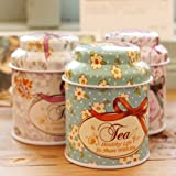 EasyBuy India 1PC Fresh Style Random Color Candy Sealed Cans Box Flower Design Metal Sugar Coffee Tea Tin Jar Container